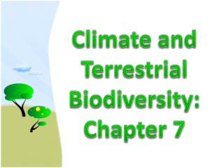 Climate  and  Terrestrial Biodiversity : Chapter  7