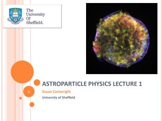 ASTROPARTICLE PHYSICS LECTURE 1