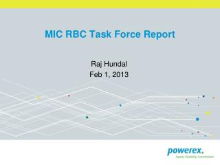 MIC RBC Task Force Report