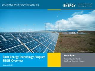 SOLAR PROGRAM: SYSTEMS INTEGRATION