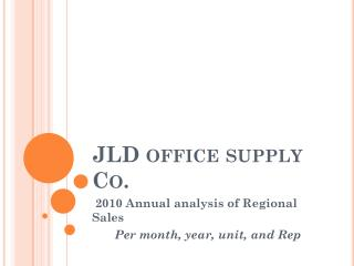 JLD office supply Co.