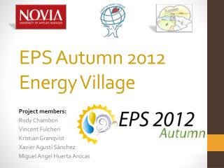 EPS Autumn 2012 Energy Village