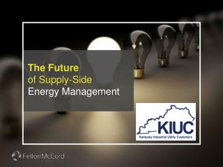 The Future of Supply-Side Energy Management