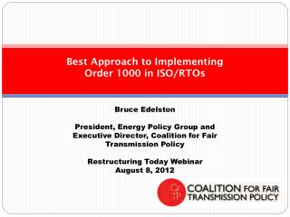 Best Approach to Implementing Order 1000 in ISO/RTOs