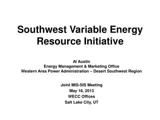 Southwest Variable Energy Resource Initiative