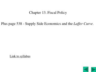 Chapter 13. Fiscal Policy
