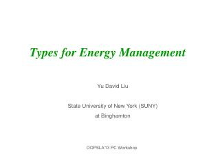 Types for Energy Management