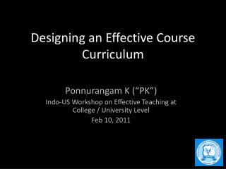 Designing an Effective Course Curriculum