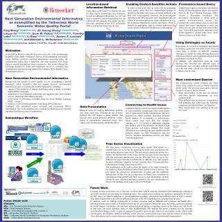 Next Generation Environmental Informatics as exemplified by the  Tetherless  World Semantic  Water Quality  Portal