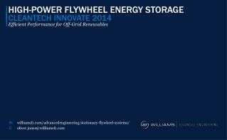 HIGH-POWER FLYWHEEL ENERGY STORAGE