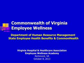 Commonwealth of Virginia Employee Wellness