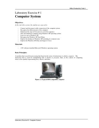 Laboratory Exercise #1 - Computer System