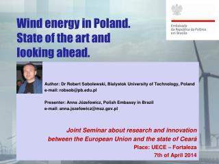 Wind  energy  in Poland.  State  of the art and  looking ahead .