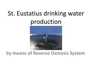 St. Eustatius drinking water production