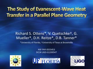 The Study of Evanescent-Wave Heat Transfer in a Parallel Plane  Geometry