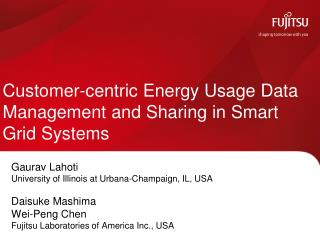 Customer-centric Energy Usage Data Management and Sharing in Smart Grid Systems