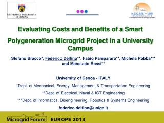 Evaluating Costs  and  Benefits  of a  Smart Polygeneration Microgrid  Project  in a  University Campus