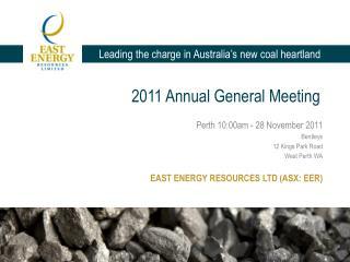 2011 Annual  G eneral Meeting