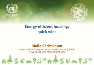 Energy efficient housing: quick wins