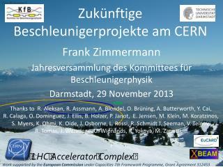 Zuk ü nftige Beschleunigerprojekte  am CERN