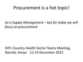 Procurement is a hot topic!