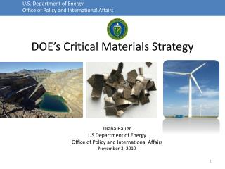 DOE�s  Critical Materials Strategy