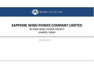 SAPPHIRE WIND POWER COMPANY LIMITED 49.5MW WIND POWER PROJECT JHIMPIR, SINDH