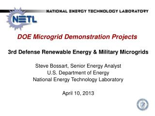DOE  Microgrid Demonstration Projects