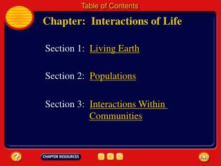 Chapter:  Interactions of Life