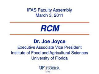 IFAS Faculty Assembly March 3, 2011