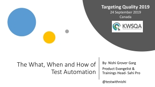 automation tools for testing.