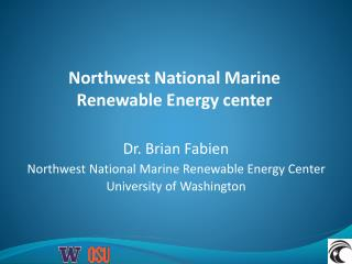 Northwest National Marine Renewable Energy center