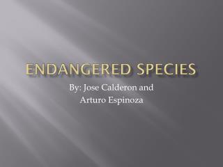Endangered Species