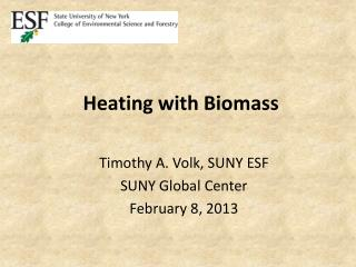 Heating with Biomass