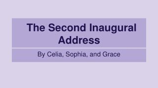 The Second Inaugural Address