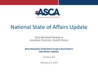 National State of Affairs Update