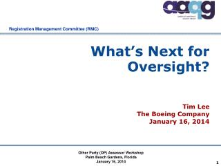 What's Next for Oversight?