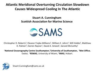 Atlantic Meridional Overturning Circulation  Slowdown Causes Widespread Cooling In The Atlantic