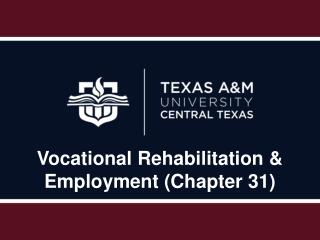 Vocational Rehabilitation & Employment (Chapter 31)