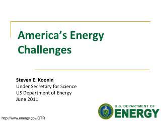 America's Energy Challenges