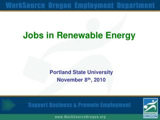 Jobs in Renewable Energy .