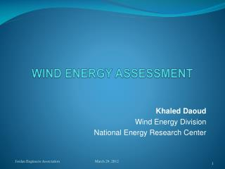 WIND ENERGY ASSESSMENT