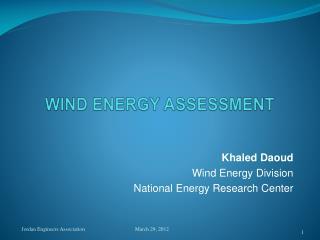 WIND ENERGY ASSESSMENT