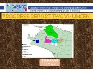PROGRESS REPORT TWG VI- UNCEN