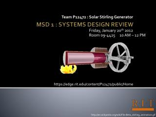 MSD 1 : SYSTEMS DESIGN REVIEW