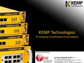 KEMP Technologies  A Company And Product Presentation