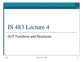 is 483 lecture 4