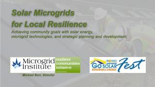 Solar Microgrids  for Local Resilience