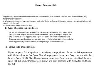 Copper fundamentals