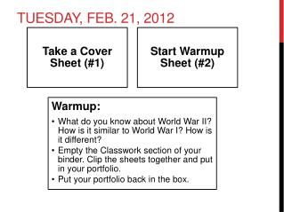Tuesday, Feb. 21, 2012